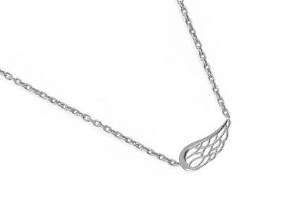 ec5093fed Stříbrný náhrdelník s andělským křídlem ...
