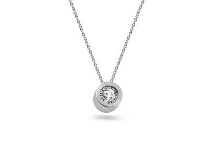 0bf621e12 Náhrdelník z bílého zlata s diamantem 0,080 ct ...