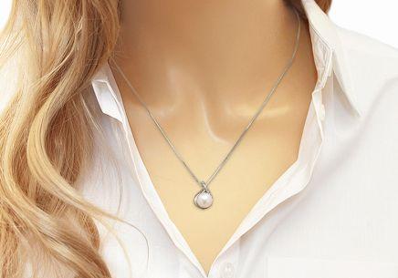 Perlový náhrdelník z bílého zlata se zirkony Zarah 0b1c6ae66b0