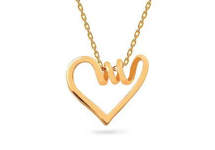 Zlatý náhrdelník se srdíčkem ... 59ba0bbac5b