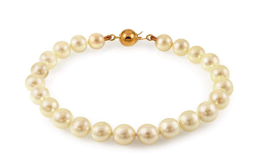 Náramek z přírodních mořských perel Akoya PE202NA