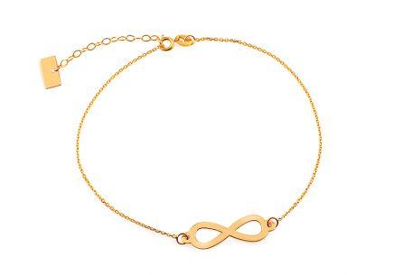 Zlatý náramek řetízek Infinity 1 872426873bf