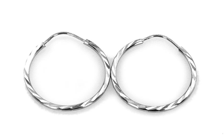 Náušnice kruhy gravírované 2 cm IZ4166
