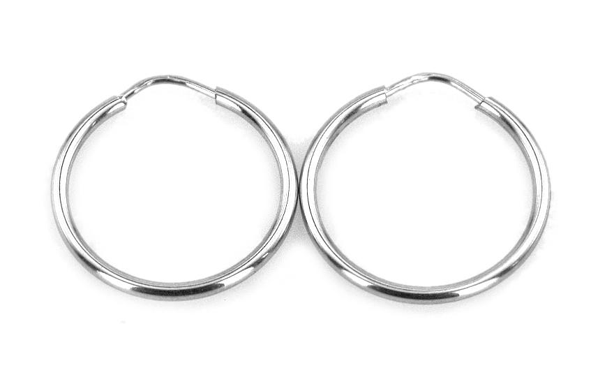 Náušnice kruhy hladké 2 cm IZ4335