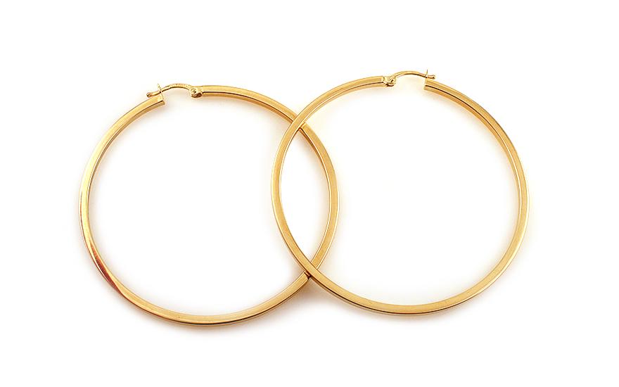 Náušnice kruhy hranaté 4,5 cm IZ4159