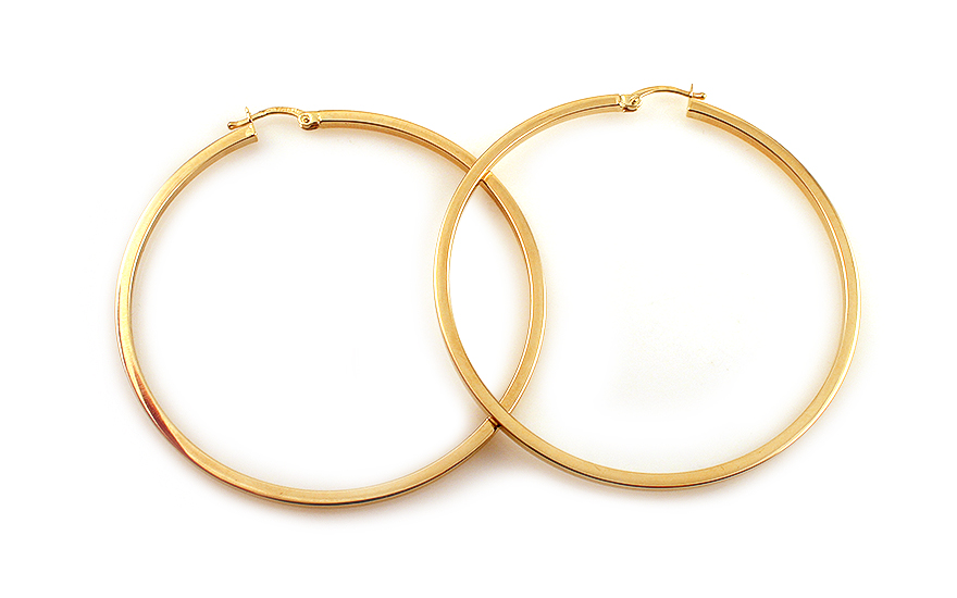 Náušnice kruhy hranaté 5,5 cm IZ4157