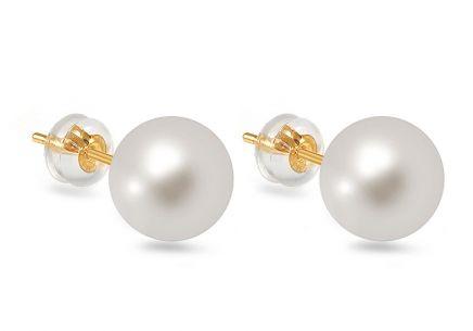 31fe06816 Zlaté náušnice s bílými perlami ...