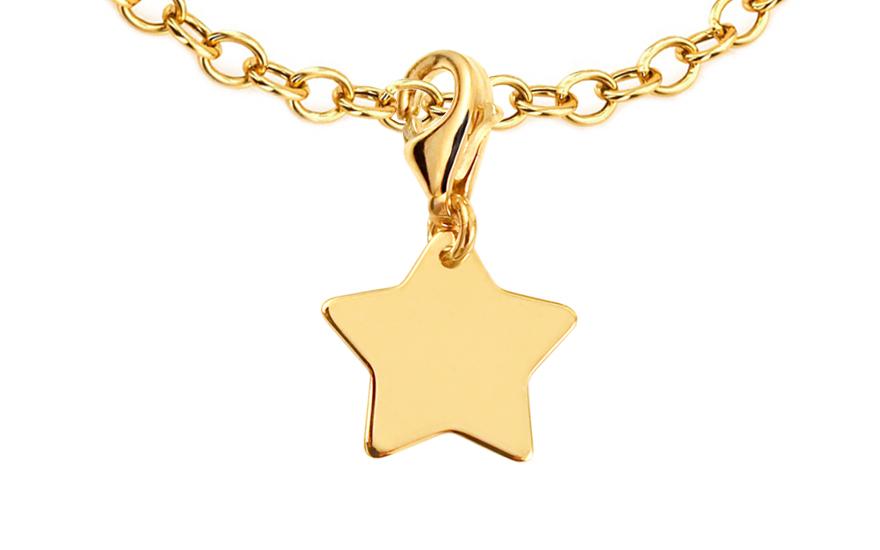 Přívěsek hvězda na náramek nebo řetízek IZ9026