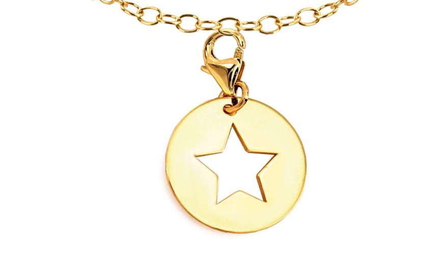 Přívěsek hvězda na náramek nebo řetízek IZ9210