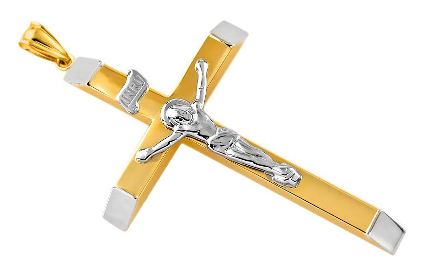 Přívěsek kříž s Ježíšem Kristem IZ7936