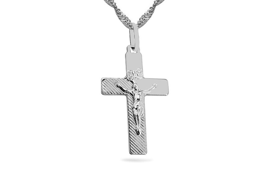 Přívěsek kříž s umučením IZ3467A