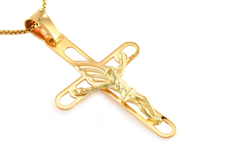 Přívěsek křížek s Ježíšem IZ8474