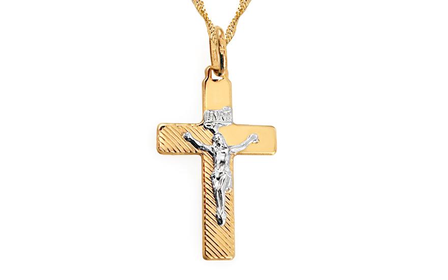 Přívěsek kříž s umučením IZ3467