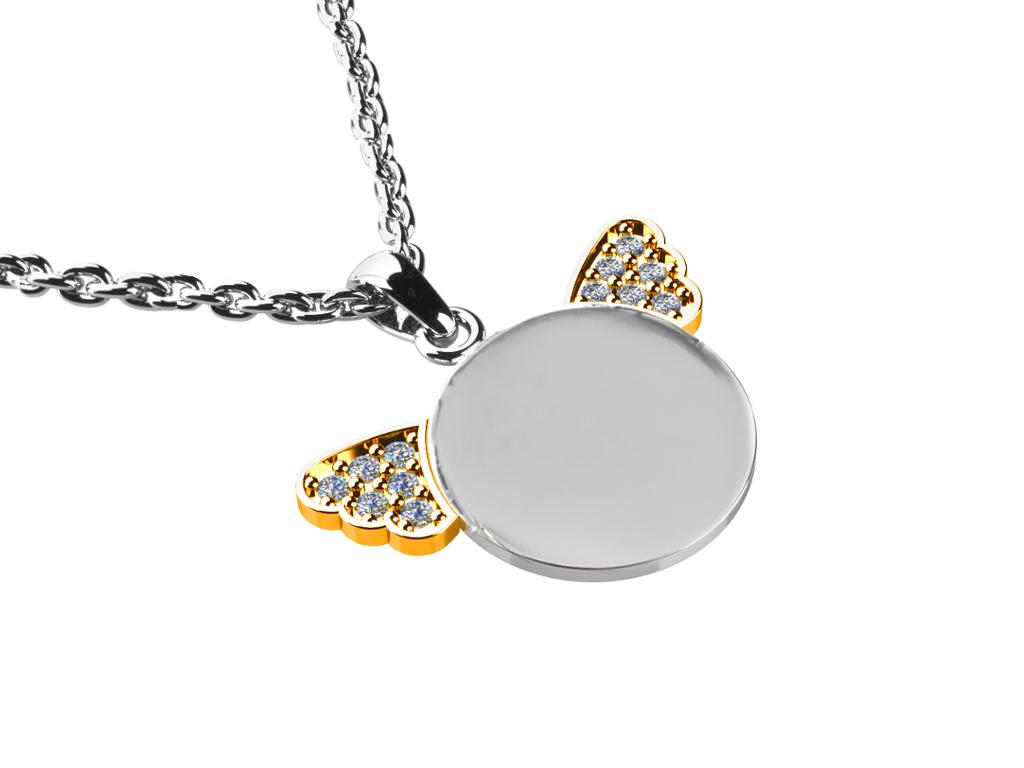 Přívěsek s diamanty 0,120 ct Anděl LRPR02