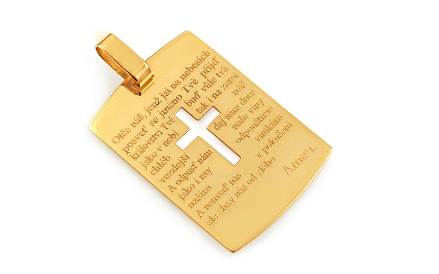 Přívěsek s modlitbou Otčenáš v češtině IZ9149