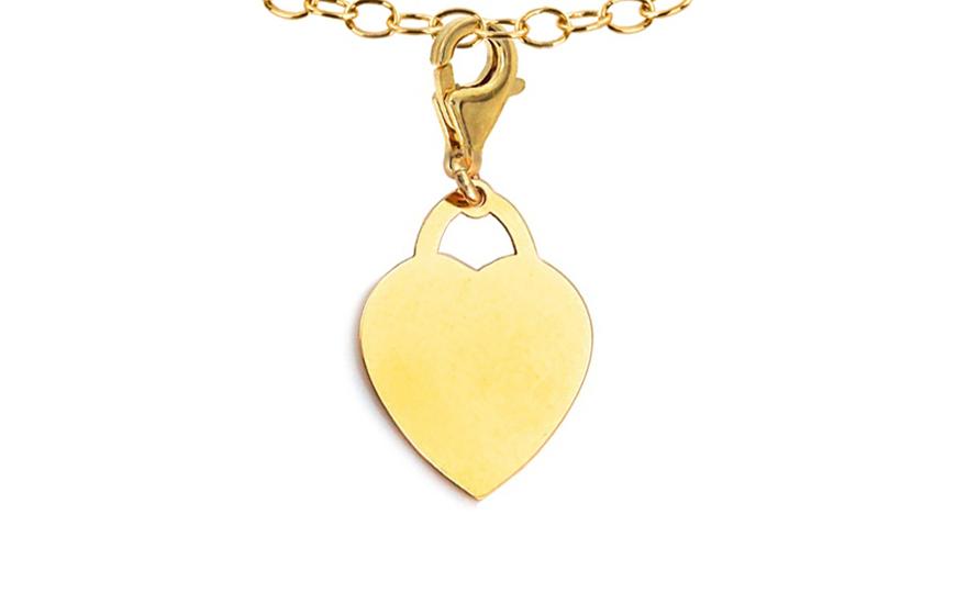 Přívěsek srdce na náramek nebo řetízek IZ8211