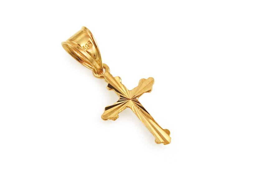 Zlatý přívěsek křížek IZ3630