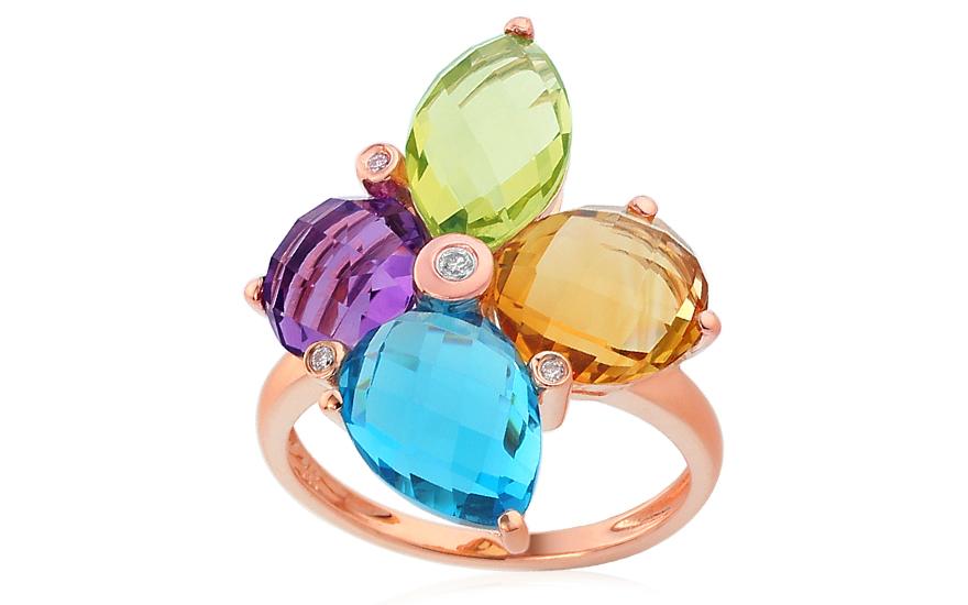 Prsten s drahými kameny a diamanty Piera IZBR288