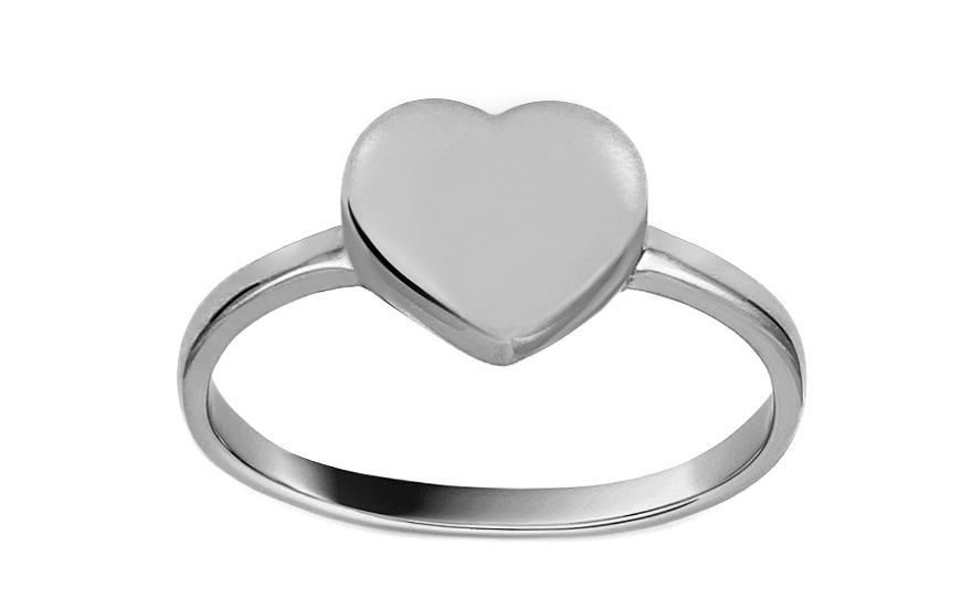 Prsten z bílého zlata se srdcem IZ13312A