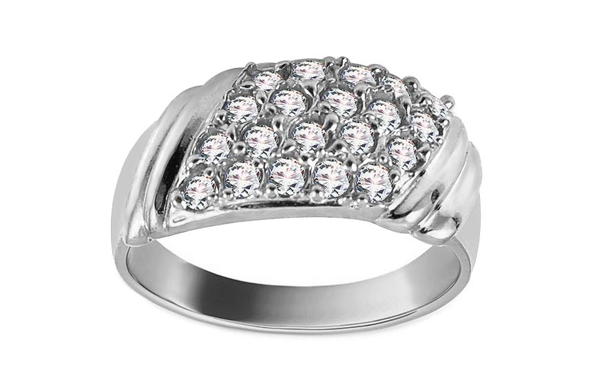 Prsten zásnubní Pretty 19 se zirkonem z bílého 14 karátového zlata CSRI2105A