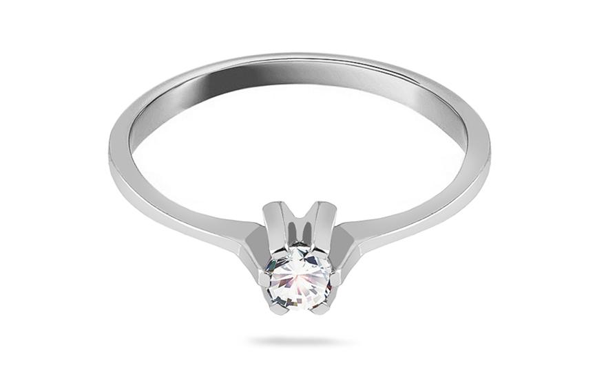 Prsten zásnubní Princess 18 se zirkonem white CSRI2100A