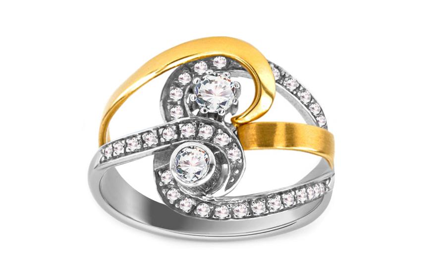 Zlatý dámský prsten elegance IZ899