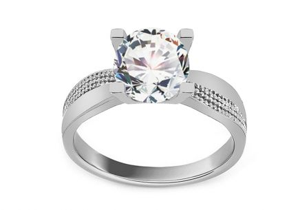 Stříbrný zásnubní prsten se zirkonem ... a240f6c195d
