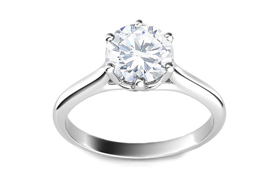 Queen top 1.370 ct Diamond certifikát HRD + (F) / VVS2 CSBR56A