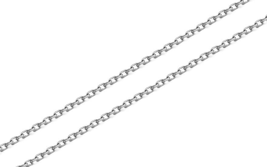 Řetízek z bílého zlata Anker 1 mm, vhodný na diamantové přívěsky IZ12189A
