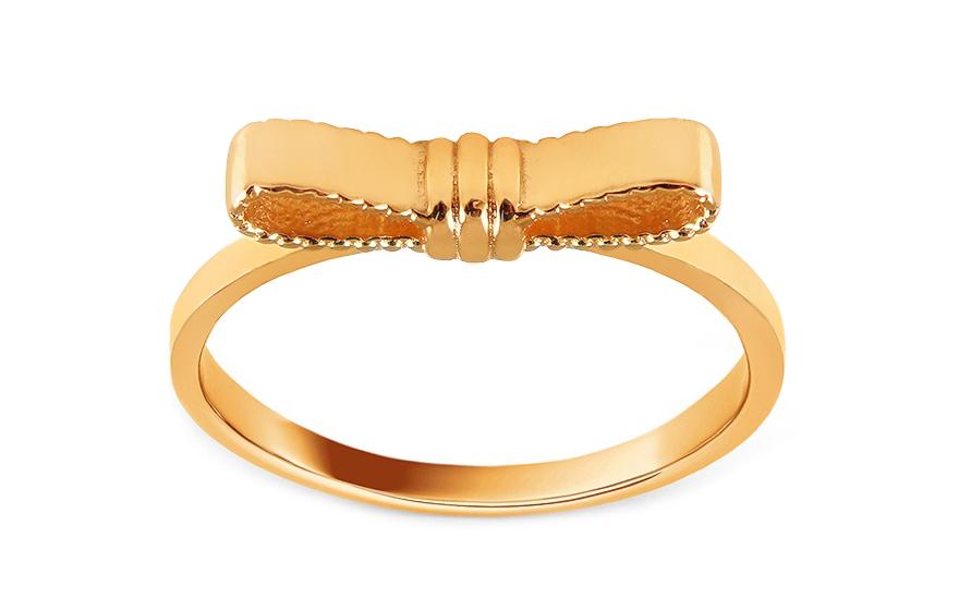 a4deb118eb9 Roztomilý zlatý prsten s mašličkou