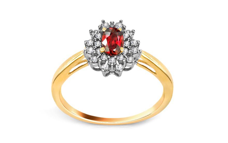 Rubínový prsten 0,200 ct Brien 2 KU116