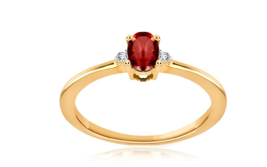 Rubínový prsten s diamanty 0,020 ct Brienne 6 KU168