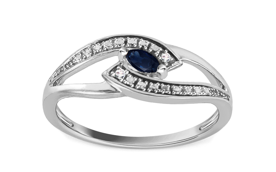 Safírový prsten 0,010 ct Jeyne 1 KU106