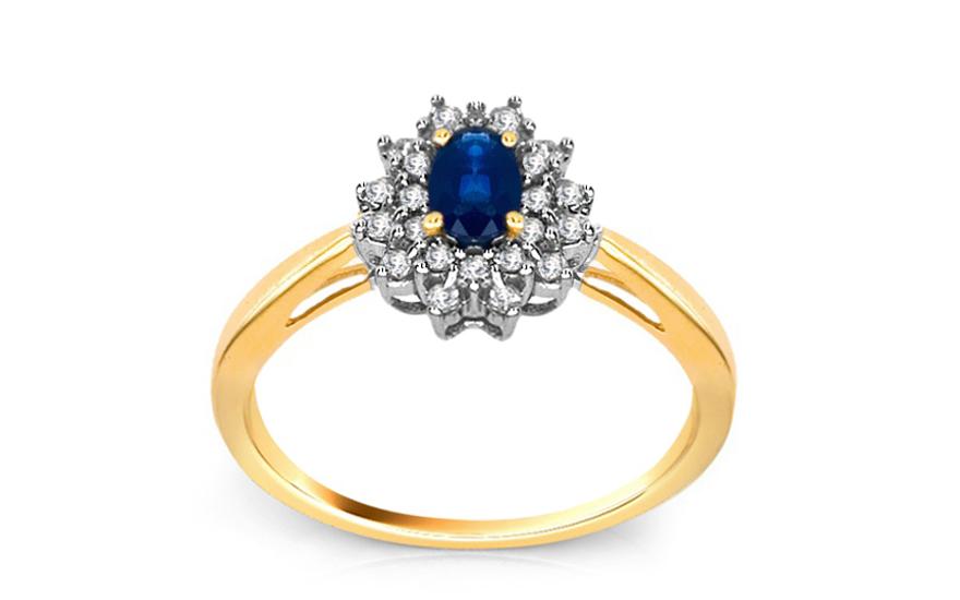 Safírový prsten 0,200 ct Jeyne KU110