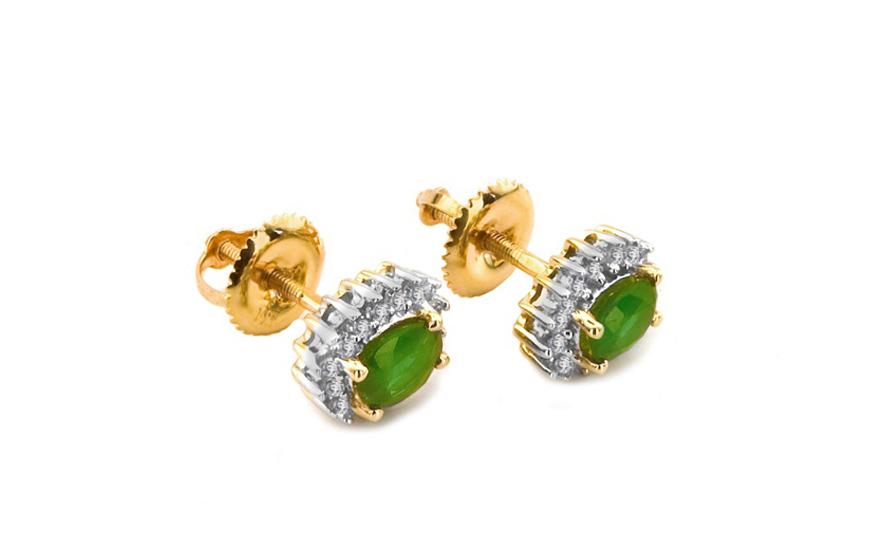 Smaragdové náušnice s 0,210 ct diamanty Talea KU125N