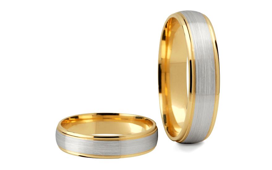 Svatební obroučky bez kamenů šířka 4 mm STOB089-4
