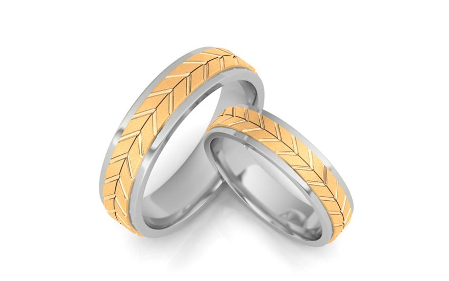 Snubní prsteny bez kamenů šířka 4,7 mm STOB062