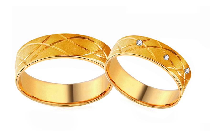 Snubní prsteny dekorované s kamínky RYOB057