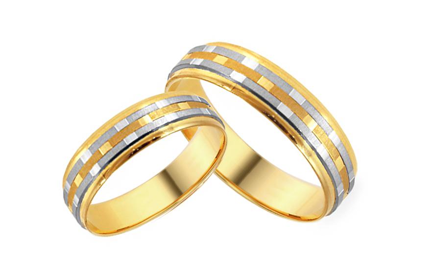 Snubní prsteny se vzorem šířka 5 mm IZOB013