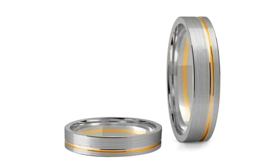 Snubní prsteny matované šířka 4 mm STOB139-4