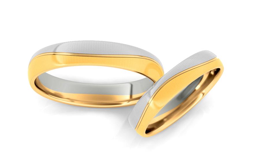 Svatební obroučky matované šířka 4 mm STOB204-4