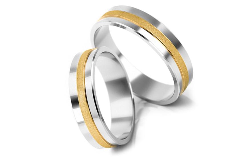 Svatební obroučky matované šířka 4 mm STOB057-4