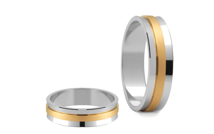 Snubní prsteny matované šířka 5 mm STOB057