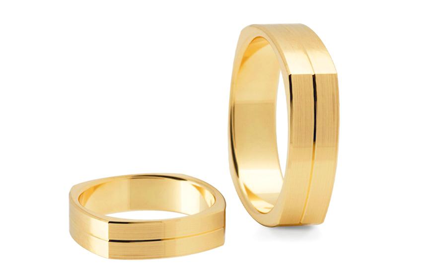Snubní prsteny matované šířka 5 mm STOB197