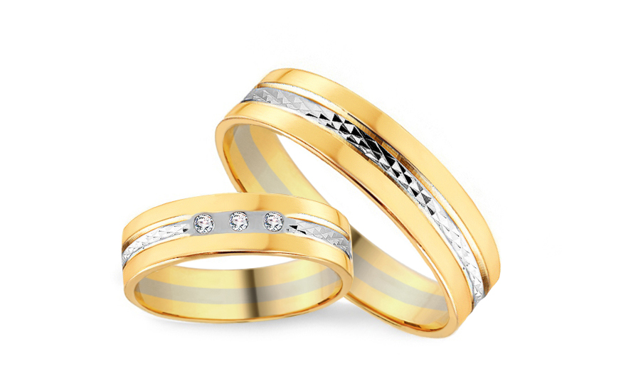Snubni Prsteny S Diamanty 0 045ct Sirka 5 Mm Csob110 Izlato24 Cz