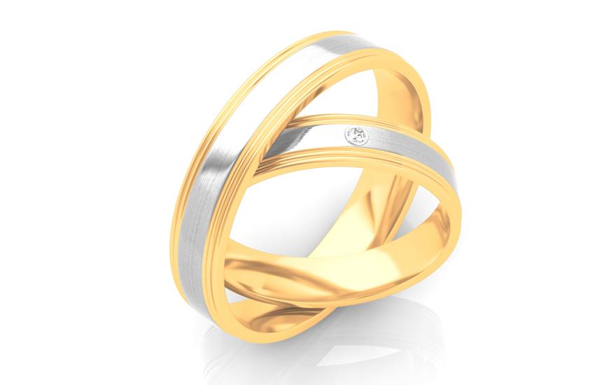 Snubní prsteny s kamínkem šíře 4 mm STOB294