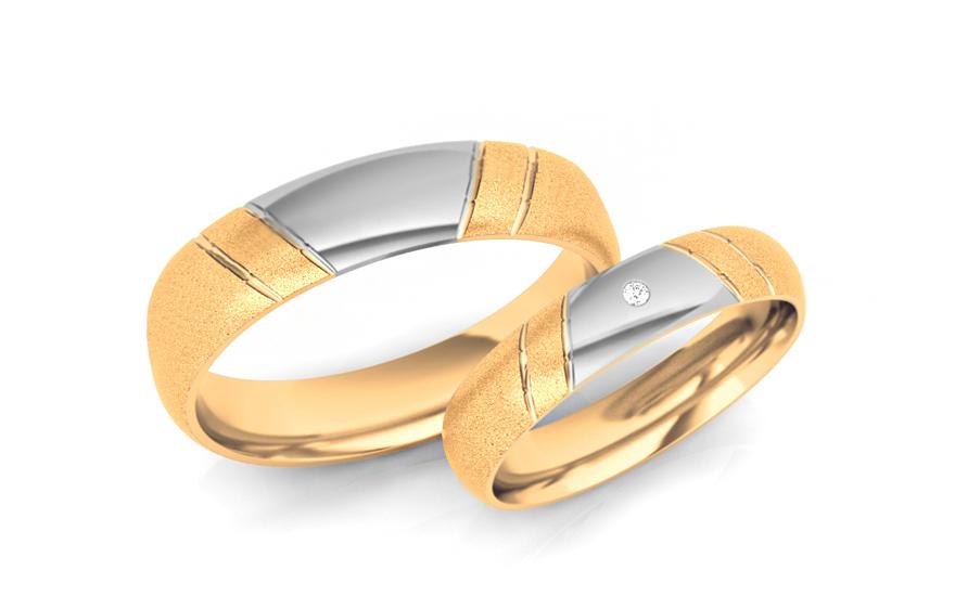 Snubní prsteny s kamínkem šíře 5 mm STOB052