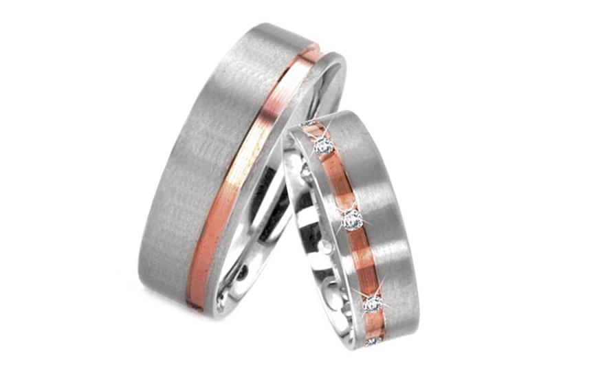 Snubní prsteny s kamínky šíře 5 mm RYOB084