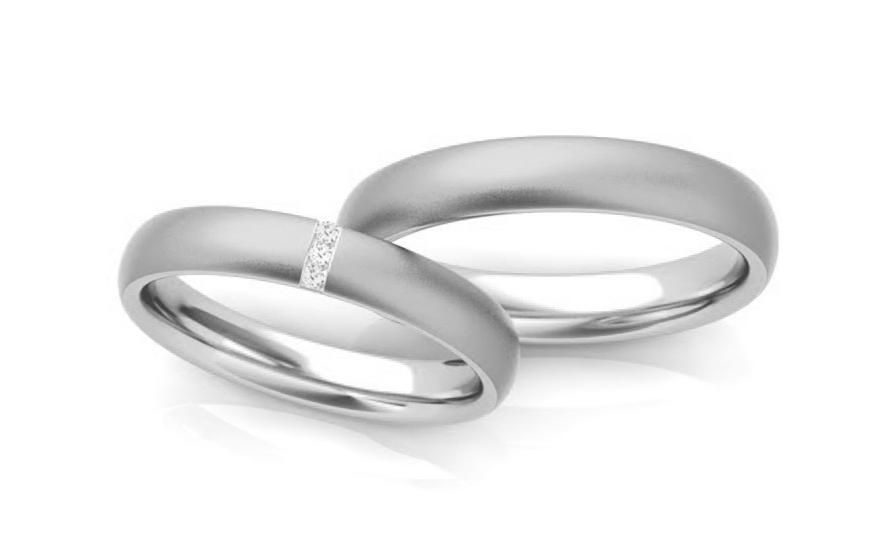 Svatební obroučky se zirkony 4 mm STOB261A