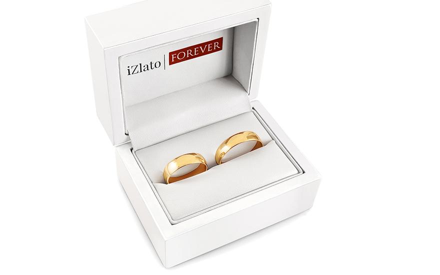 Snubní prsteny klasické žluté šířka 5 mm IZOB008